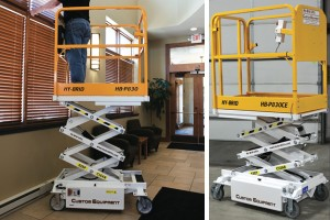 Hybrid scissor lift hire machine brisbane