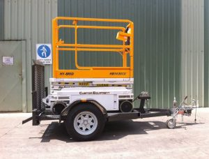 hy-brid scissor lift brisbane with trailer
